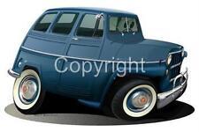 1958 Willys 4X4 Wagon Jeep Cartoon T-Shirt #6710 vintage automotive art