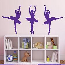 3 / Danseuse de Ballet Ballerine wall stickers-plusieurs coloris et tailles