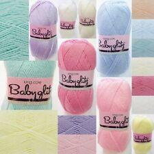 King Cole BABY GLITZ Yarn Knitting Wool 97% Acrylic 3% Polyester - FREE P&P-100g