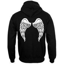 Alas de ángel (posterior impresión) Sudadera Con Capucha Negra para Hombre