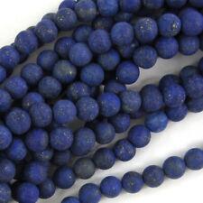 "Matte Lapis Lazuli Round Beads Gemstone 15"" Strand 4mm 6mm 8mm 10mm 12mm"