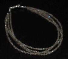 Blau Labradorite Edelstein 4 Lagen 12.7-25.4cm 925 Sterling Silber Armband 2 MM