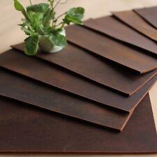 Genuine Vintage Leather Fabric Scrap for Wallet Bag Notebook Making DIY Brown