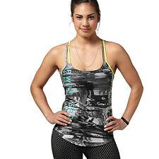 Nouveau Reebok workout débardeur t-shirt-gris-femme, gym entraînement fitness