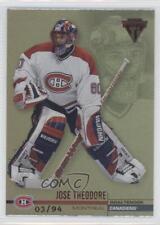 2001 Pacific Private Stock Titanium Red 76 Jose Theodore Montreal Canadiens Card