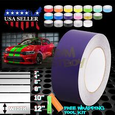 Matte Color Racing Stripes Vinyl Wrap Sticker For Dodge Charger Stripe 25FT/50FT