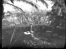 Photo ancien négatif sur verre plaque - Portrait d'une femme  Toulon / Marseille