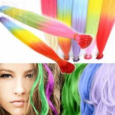 10-50 Bunte Fantasy Color Strähnen Bonding Microring Extensions Haarverlängerung