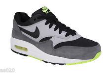 Nike Air Max 1 GS Junior Kids Boys Running Sports Shoes Trainers - Grey    Black 6ec7078e6b00