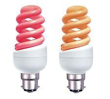Fuego eléctrico Glow Bombilla CFL Espiral 7 W, 9 W, 11 W BA22D Rojo Ámbar BC