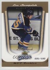 2005-06 Upper Deck MVP Gold 432 Lee Stempniak St. Louis Blues Rookie Hockey Card