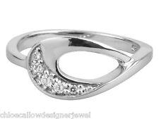 1x 925 Sterling Silver & CZ Crystal Set Teardrop Design Ring Size K - P