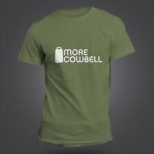 Más Cencerro T-shirt - Walken Ferrell Saturday Night Live inspirada - 12 Colores
