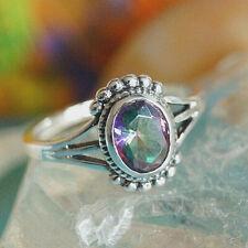 Silberring 53 54 56 59 63 Bunt Magic Mystic Topas Vintage Verspielt Silber Ring