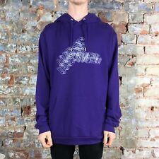 WESC Logo Felpa Con Cappuccio Felpa Pullover Maglia di filo Nuovo di zecca-VIOLA Taglia: M, L