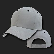 Light Gray & Black Sandwich Visor Bill Blank Baseball Ball Cap Hat Caps Hats