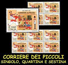 ITALIA 2008 Corriere dei Piccoli MNH** Singolo Quartina e Sestina ormai raro!!!!