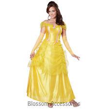 CL29 Classic Beauty Princess Belle Adult Storybook Fairytale Fancy Dress Costume