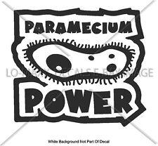 Paramecium Power One Celled Organism Art Wall Glass Auto Die-Cut Vinyl Decal