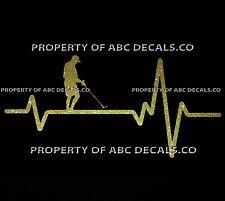 VRS HEART Love Metal Detector Prospecting Gold Silver CAR DECAL METAL STICKER