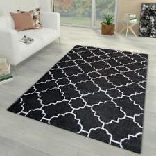 Oriental Rugs 80X150 Black and Cream Low Pile Mat 120x170 Lounge Carpet 160x230