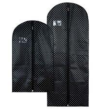 Hangerworld™ Black Breathable Garment Covers Suit Dress Clothes Storage Zip Bags