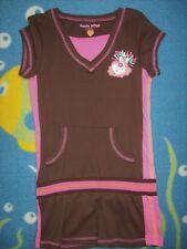 Hello Kitty Dress Girls XS M L XL Brown Pink Glitter Kitty New