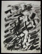 Jacques Germain Pastel sur Papier Signée Art Abstrait abstraction lyrique bahaus