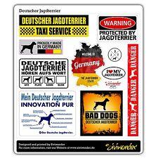 Voiture sticker autocollant allemand Jagdterrier collection DOG COLLECTION siviwonder