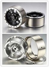 2Pcs 1.9 Inch Beadlock 8-Spoked Wheel Heavy Duty for RC Car Axial SCX10 #1534