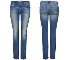 Only Femmes Denim Jeans Pantalon onlsisse Reg Slim Cry 823 Medium Blue Regular NEUF