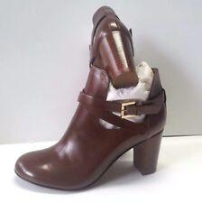 Scarpe Donna Pelle Woman Boots MADE ITALY Stivaletti 37 Tacco Marrone Stiefel