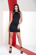 Sexy Mapale Black Mini Dress w/ Multi Criss Cross Back 4492