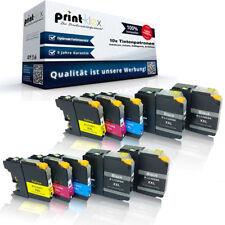 10x PREMIUM Cartuchos de tinta para Brother lc-22e Color Set XXL- Easy Print