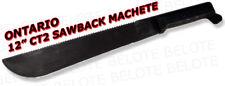 "Ontario Knife CT2 12"" Traditional Sawback Machete 8297 8287"