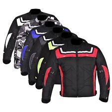 hommes imperméable MOTO Cordura Veste textile moto armures