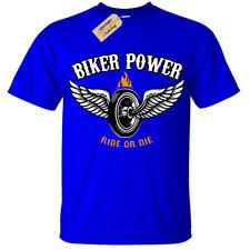 Kids Boys Girls Biker Power T-Shirt Ride or die Motorbike