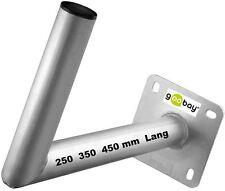 SAT Wandhalter Alu 250 350 450 mm Lang Rohr Ø 50 mm sowie Montagedübel goobay®