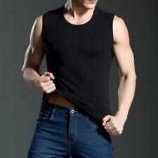 Men Sleeveless T-Shirts Muscle Tank Tops Cotton T Shirt Men's Vest