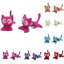 3D Ohrringe Katze Cat Ohrstecker Ohrschmuck Earring Animal in 5 Farben