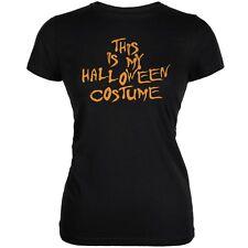My Funny Cheap Halloween Costume Black Juniors Soft T-Shirt