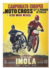 June 1955 Italian Imola Moto Cross REPRO event poster