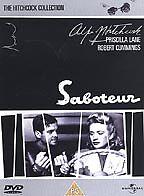 Alfred  Hitchcock - SABOTEUR -  DVD  - ROBERT CUMMINGS