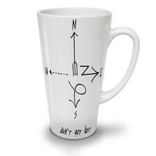 No se pierde Flecha Nuevo Blanco Té Café Taza de café con leche 12 17 Oz | wellcoda