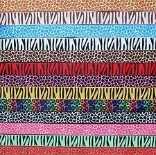 Leopard Print Grosgrain Ribbon 25mm Zebra Cake Bow Hair Dummy Clips Gift Wrap