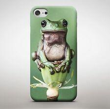 rana Flor NATURALEZA SALVAJE VERDE Animales Rainforest JUMPING Funda de teléfono