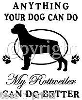 TEE SHIRT - ROTTWEILER #3 -  DOG