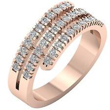Hand Anniversary Ring 14K Rose Gold 7.80Mm Vvs1 E 1.01 Ct Natural Diamond Right