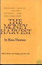 Ross Thomas Money Harvest ADVANCE 1ST SIGNED BY THOMAS