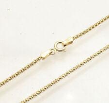 Technibond Popcorn Coreana Chain Necklace 14K Yellow Gold Clad 925 Silver